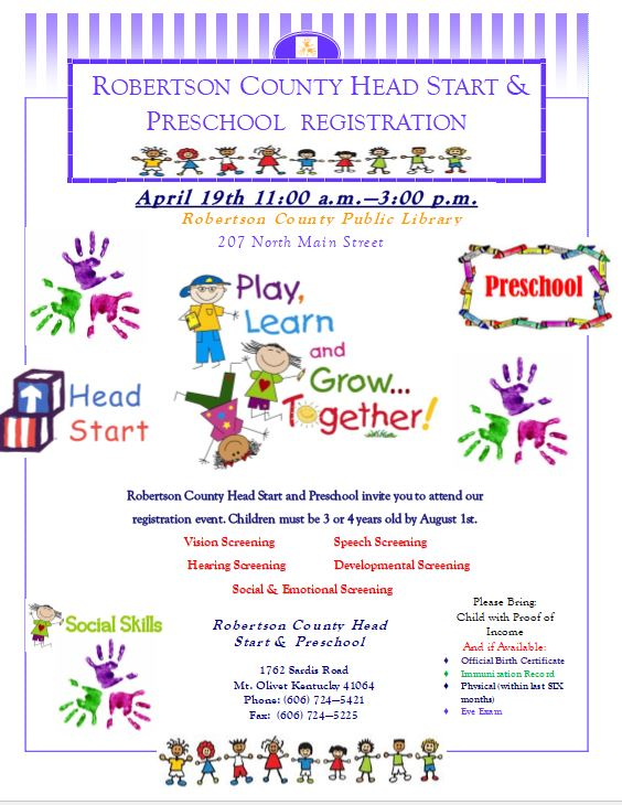 Preschool and Head Start Registration